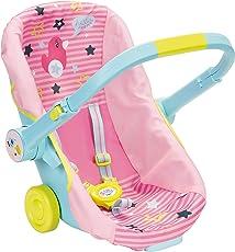 BABY Born 824412 Schalensitz mit Rädern Puppen Fahrradsitz, bunt