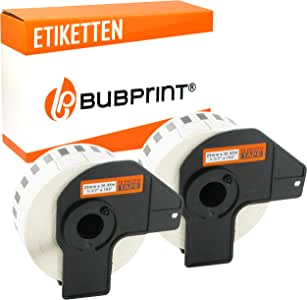 2 ROLLEN ETIKETTEN 29mm x 30.48m STANDARD für BROTHER P-touch DK-22210