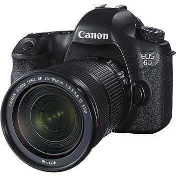 Canon EOS 6D Kit Fotocamera Reflex Digitale con Obiettivo EF 24-105 mm f/3.5-5.6 IS STM, 20 Megapixel, Nero/Antracite