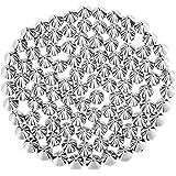 100 pz punte a cono rivetti borchie punk per abbigliamento, artigianato in pelle, marsupio - 10 x 8,5 mm