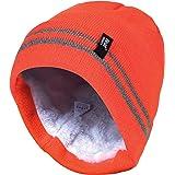 colore: arancione//verde oliva Lakeshore Berretto da caccia in 100/% lana merino modello Signal Warn double-face