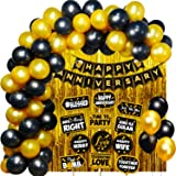 Party Propz Happy Anniversary Decoration Items For Home - Bedroom Decorations 40Pcs Items Kit Combo - Happy Anniversary Banne