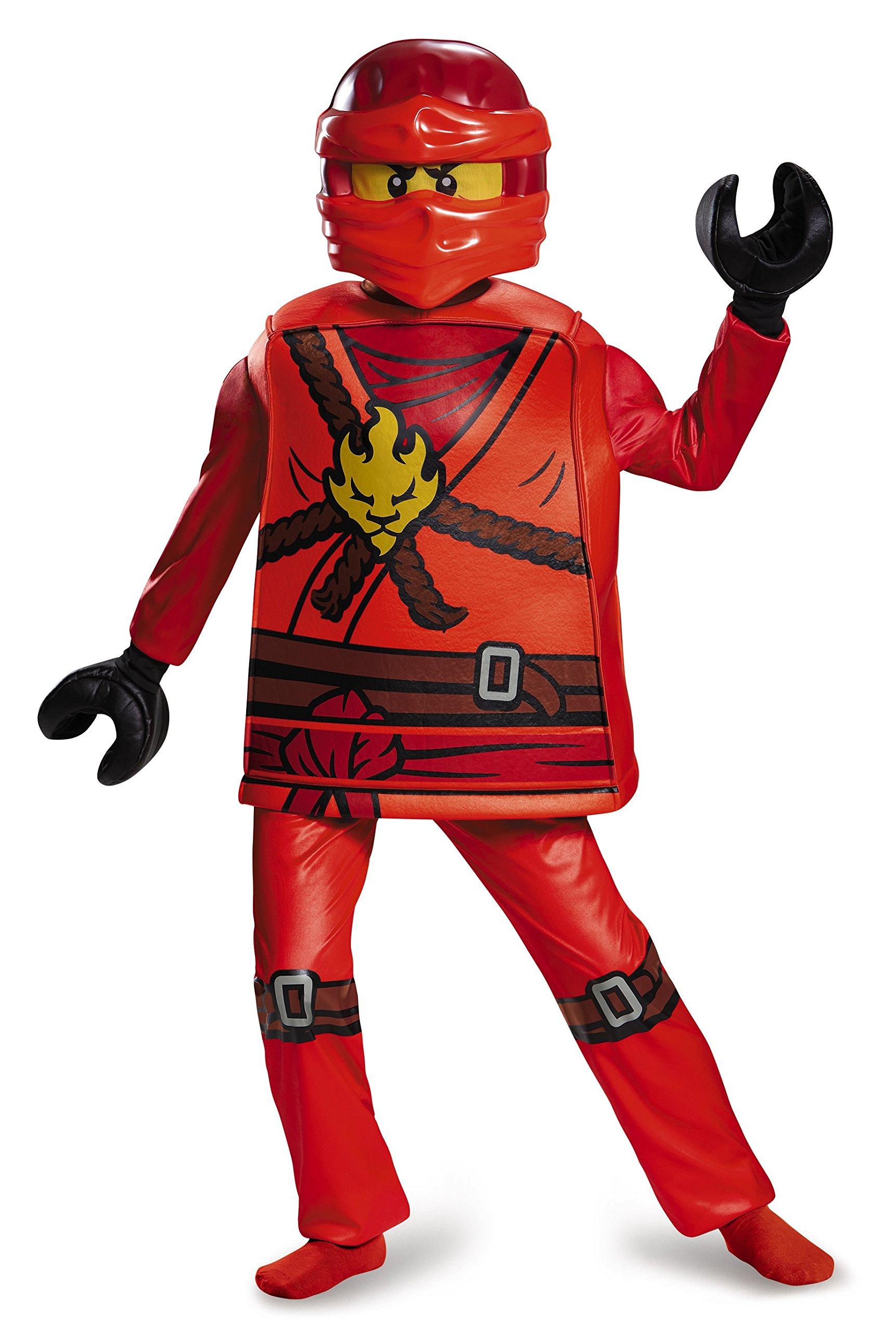 Lego Costume da Ninjago Kai, per Bambini, Taglia S, Gamma Deluxe, età 4–6Anni, Altezza ca. 120 cm -125 cm 3 spesavip