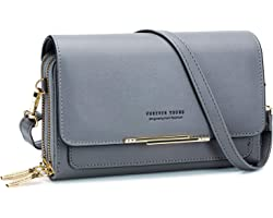 Roulens kleine Umhängetasche für Frauen, Handtaschen für PU-Lederhandtaschen, Schulterhandtaschen mit Kreditkartenfächern (Du