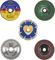 Spartan SP-4 Angle Grinder Cutting Wheels Combo, 4 Inches or 110 mm, Set of 5