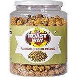 Roastway Foods Premium Roasted Healthy Rudraksh Gur Chana (400g)