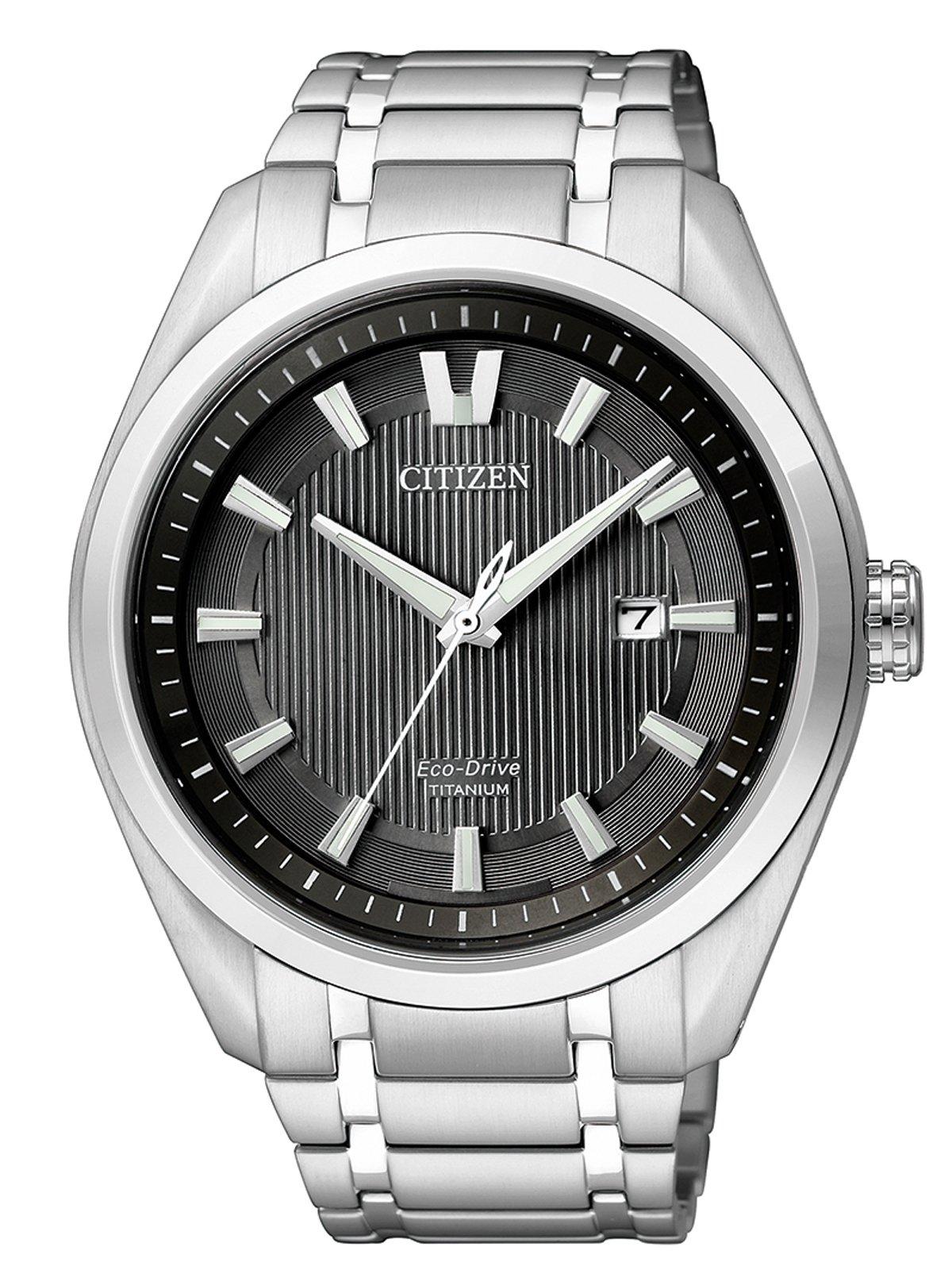 Citizen AW1240-57E – Reloj de Cuarzo para Hombre, con Correa de Titanio,