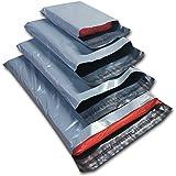 Realpack 100 buste in plastica grigie miste di ODL Packaging Ltd