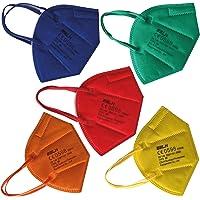 Rainbow Edition 40 FFP2 Masken bunt je 8x rot gelb grün orange blau farbige FFP2 Maske CE zertifiziert Mund und…