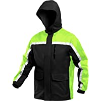 MAGCOMSEN Mens Waterproof Outdoor Jackets Mulit Pockets Fishing Cycling with Hood Raincoat