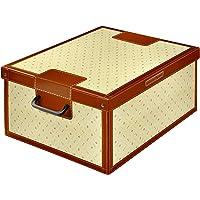 Kanguru Boîte de rangement BAULOTTO GIGLIO/FLEURS DE LIS en carton recyclable pour ranger vêtements, armoire, joutes…
