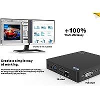 SeeKool Z83-V Mini PC Support Windows 10, Intel Atom x5-Z8350 Processor 4GB Ram 64GB Rom Graphics HD 400, 1000Mbps LAN 4K MINI Computer con 5.8G+2.4G WiFi/Bluetooth 4.0/USB 3.0/HDMI+VGA Outputs