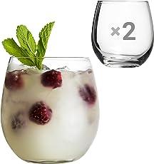 TUFF LUV Groß [470ml] Glas Gin und Tonic Gläser für Cocktails und Geschenkbox - Packung mit 2 Stück