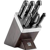 ZWILLING Bloc de Couteaux avec Auto-Affûtage, 7 Pièces, Bloc en Bois, Couteaux & Ciseaux en Acier Inoxydable Spécial…