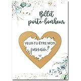 JoliCoon Carte á gratter - cadeau parrain demande - Veux-tu être mon parrain