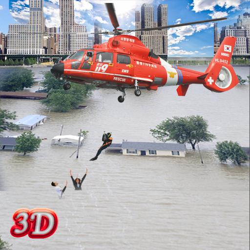 Armee Hubschrauber Flut Rettung -