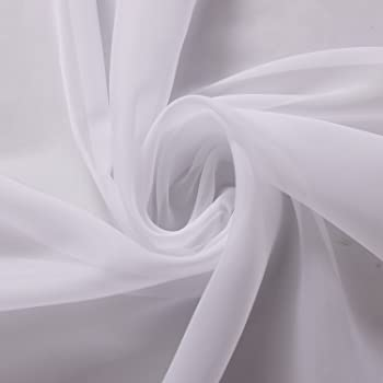 BARGAIN *FREE P/&P* 3M VOILE FABRIC WIDE 118/'/' SOLD BY THE METER *15 COLOURS
