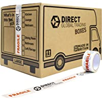 15 Strong Large Cardboard Storage Packing Moving House Boxes with 66m Fragile Tape 47cm x 31.5cm x 30cm 44 Litres