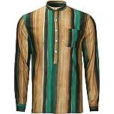 AUDATE Camicia da uomo in cotone e lino, per autunno e inverno, a maniche lunghe, vestibilità normale, per il tempo libero