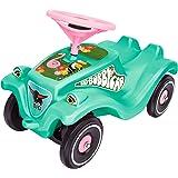 BIG-Bobby-Car Classic Tropic Flamingo, Kinderfahrzeug mit Aufklebern im Tropischen Stil, für Jungen und Mädchen, belastbar bis zu 50 kg, Rutschfahrzeug für Kinder ab 1 Jahr, türkis