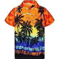 V.H.O. Funky Camicia Hawaiana | Uomini | XS - 12XL | Manica Corta | Tasca Frontale | Stampa Hawaiana | Spiaggia Estate…