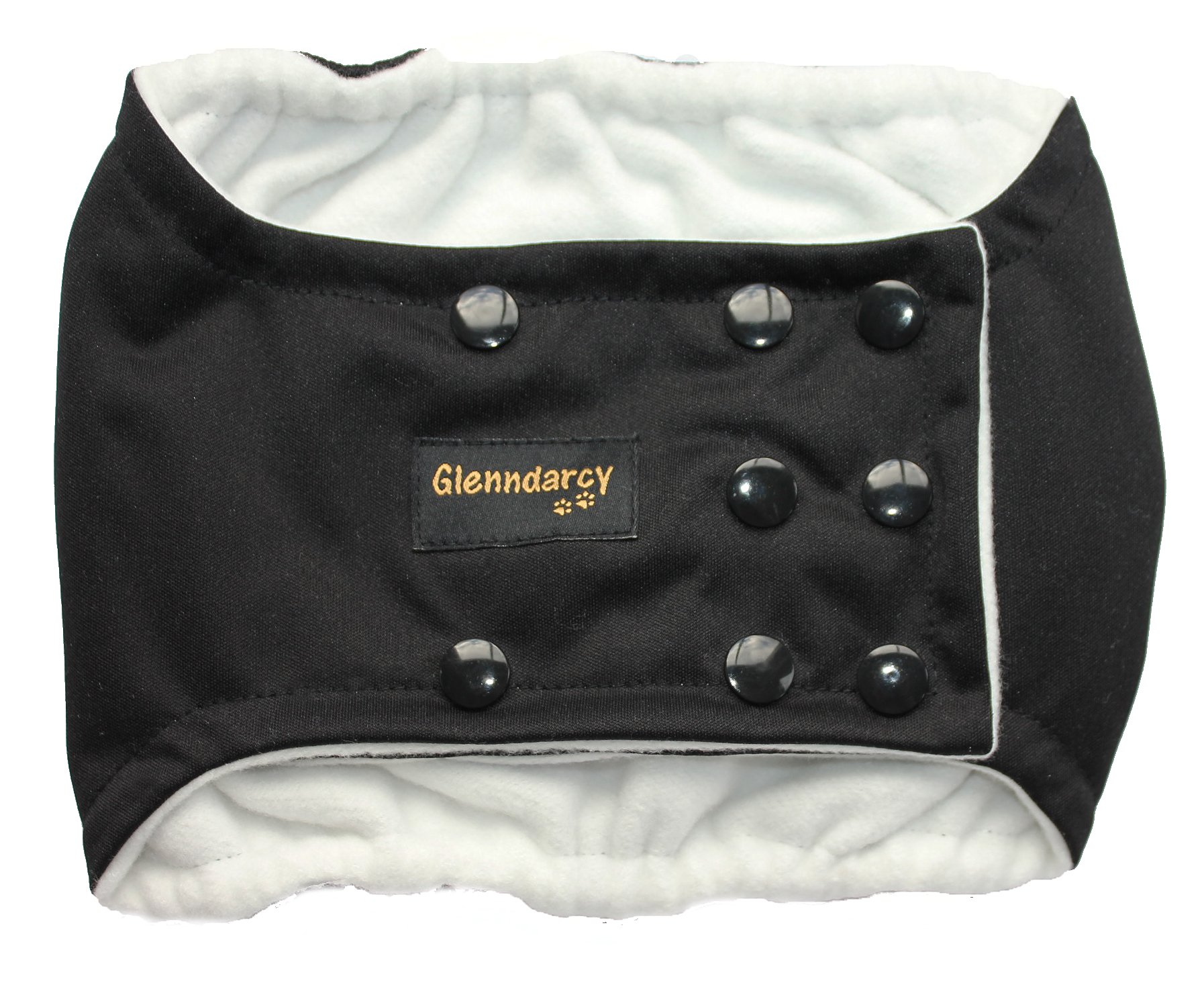 Dots Black Male Dog Belly Band with Waterproof PUL /& All-In-One Options
