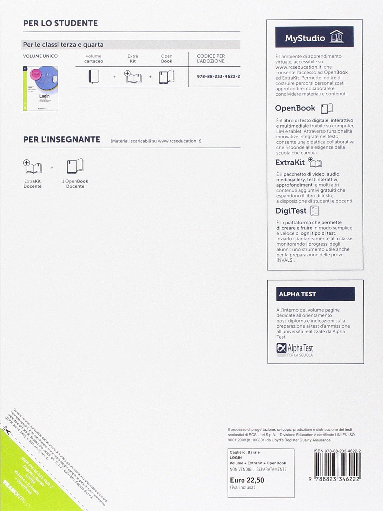 Login  Con Extrakit-Openbook  Per le Scuole superiori  Con e-book  Con  espansione online