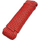 Touw 8 mm 20 m - polypropyleen touw PP, vastmakerslijn, multifunctioneel touw, breien, tuintouw, outdoor - breukbelasting: 70
