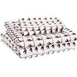 AmazonBasics Kid's Sheet Set - Soft, Easy-Wash Microfiber - Full, Brown Monkeys