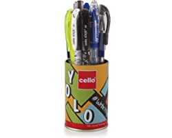 Cello Yolo Stationery Combo Pack (12 Stationery Items) Includes Ball Pens, Gel Pens,whiteboard Markers, Permanent Marker, Hig