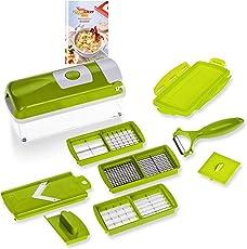 Genius Nicer Dicer Smart | 10 Teile | Obstschneider | Zwiebelschneider | Pommesschneider | Tomatenschneider | Gemüseschneider | Allesschneider | Bekannt aus TV | NEU