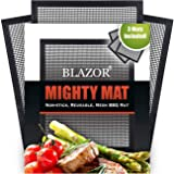 BBQ Grill Mat, Non-Stick BBQ Grilling Mesh Mats, Used for Pizza Oven Outdoor, and Gas & Electric Grill, Reusable and Easy-to-