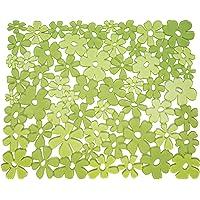 InterDesign Blumz tapis évier - moyen fond évier en plastique PVC - protection évier pour lavabo - vert