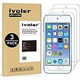 ivoler [3 Unidades] Protector de Pantalla para Apple iPod Touch 7/6 / 5 (7th, 6th y 5th Generación), Cristal Vidrio Templado