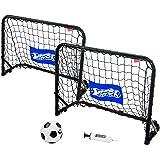 Best Sporting Unisex ungdomsmål set mini fotbollsmål, svart, standardstorlek