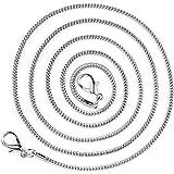 ONEFLOW Schouderriem voor tassen in zilver - ketting van metaal   tasriem stijlvolle schouderriem handtas draagriem tas riem
