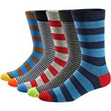 Men's Fun Dress Socks Colorful Funky Patterned Cotton Crew Socks