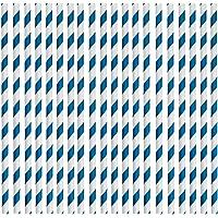 Rink Drink Pailles en Papier - biodégradables/respectent l'environnement - fête/Mariage - Bleu/Blanc - Lot de 25