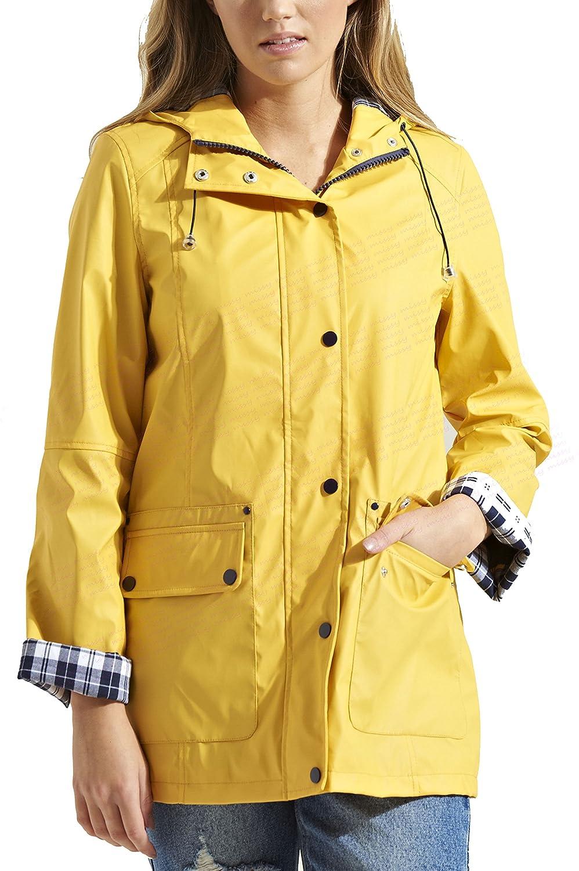 NEWLadies WATERPROOF rain MAC VINYL Womens Festival RAINCOAT Size ...