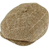 MIX BROWN Newsboy Cap Flat Hat for Men Women- Classic Vintage Hat Beret Ear Flat Cap