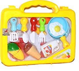 Vibgyor Vibes Colourful Realistic Pretend Play Kitchen Set in a Suitcase