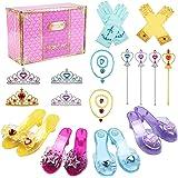 Tacobear Zapatos Princesa Niñas Princesa Disfraz Accesorios con Princesa Collar Corona Guantes Varita Mágica Pulsera Anillo P