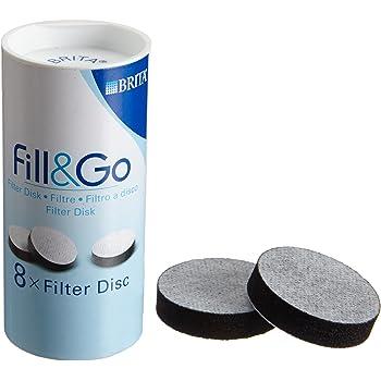 Brita 046 033 - Confezione con 8 filtri a cialda Fill&Go, compatibili con borraccia Fill&Go