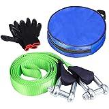 FIXKIT Abschleppseil, Auto Abschleppseil Starterkabel horizontale Tragkraft bis 12 Tonne inkl. Rutsch Handschuhe und…