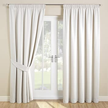 Curtains Ideas 54 inch curtains : Julian Charles 44 x 54-inch Savoy Curtains, Cream: Amazon.co.uk ...