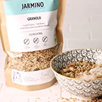 Granola - Muesli proteico BIO di JARMINO | 400g muesli croccante | Muesli di qualità superiore per il mattino | Cereali croccanti senza glutine di grano