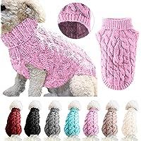 Modischer gestreifter Hundepullover, warmer Mantel, Strickwolle, Winterpullover für kleine, mittelgroße und große Hunde