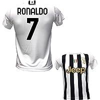 DND DI D'ANDOLFO CIRO Maglia bianconera Home Ronaldo 7 CR7 Ufficiale Autorizzata 2020-2021 Taglie da Adulto e Bambino