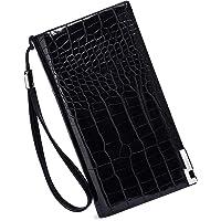 FUR JADEN Women's Leather Stylish Long Ladies Wallet with Zip Pocket, Multiple Card Holders and Phone Zip Pocket