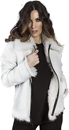 Lambretta Icy Giacca di Pelle Shearling Reversibile Donna Inverno